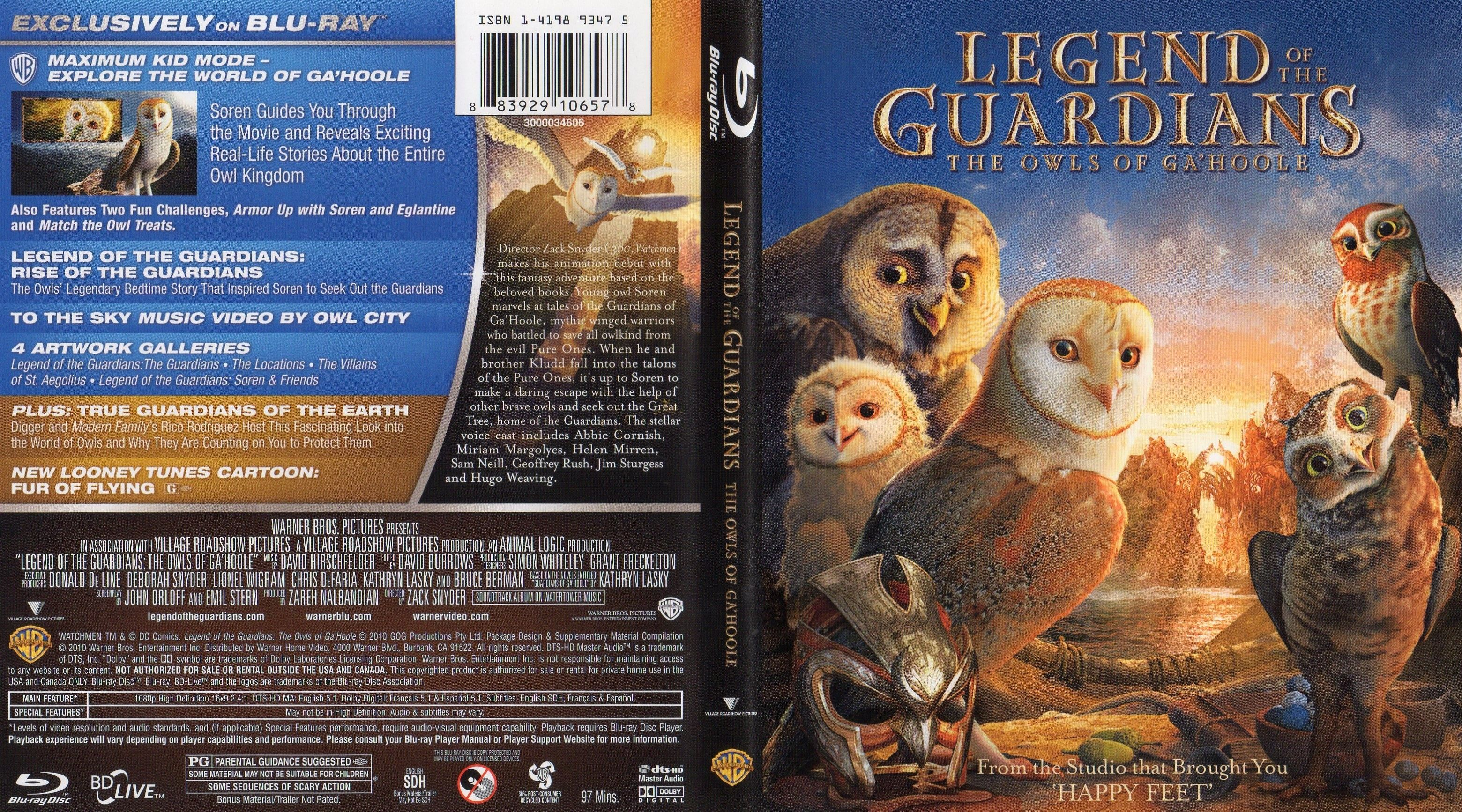 Legend Of The Guardians - Blu-Ray Cover