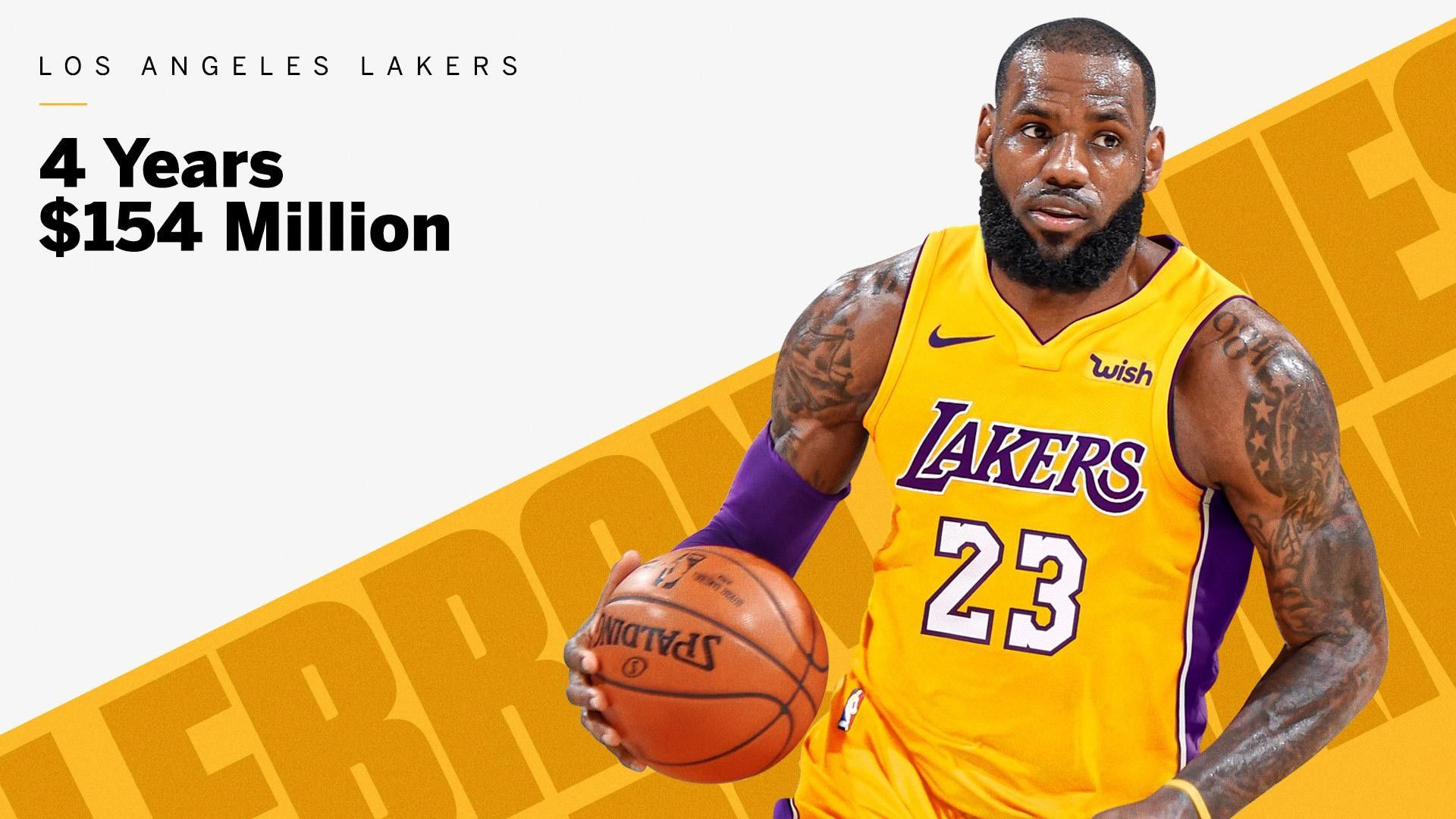 Lebron James Agrees To Join Los Angeles Lakers On A Four Year Contract For 154million Lebron James Lakers Lebron James Poster Lebron James