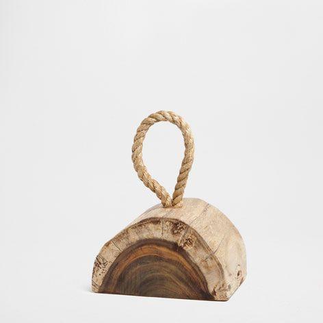 tope de puerta tronco de arbol accesorio decorativo