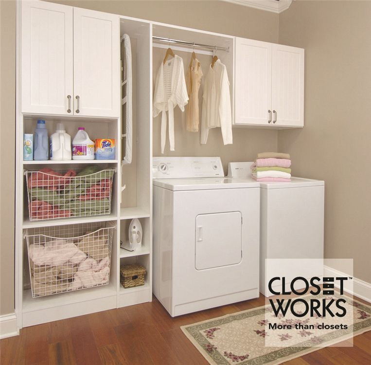 Closet Works   Chicago Laundry Room Storage Cabinet   Linen Closet Wall  Shelves