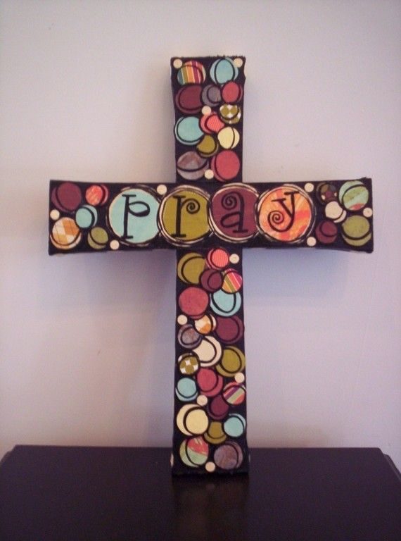 Custom Order For Amanda...Mixed Media Collage Cross (10X13 ...