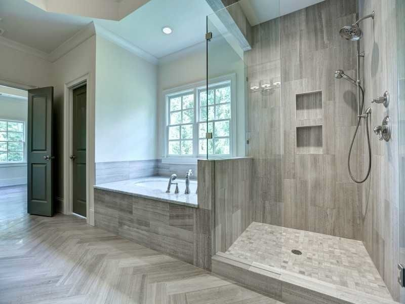 Contemporary Master Bathroom with Grohe 35054ENO Brushed Nickel ...