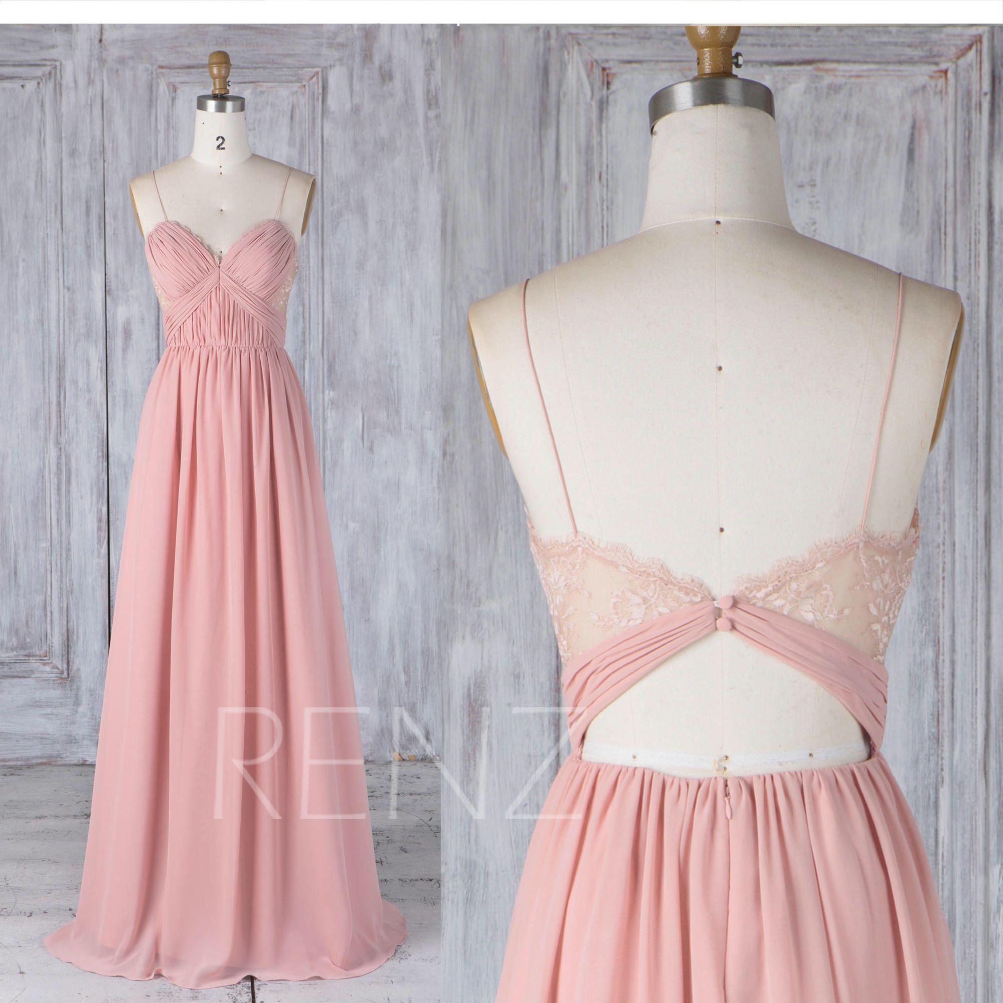 Bridesmaid Dress Blush Chiffon Ruched Sweetheart Wedding Dress ...