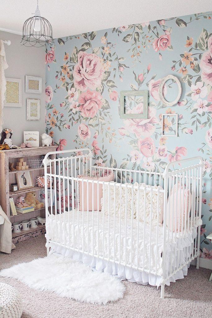 Cutesie Wallpaper In 2021 Girl Nursery Room Themes