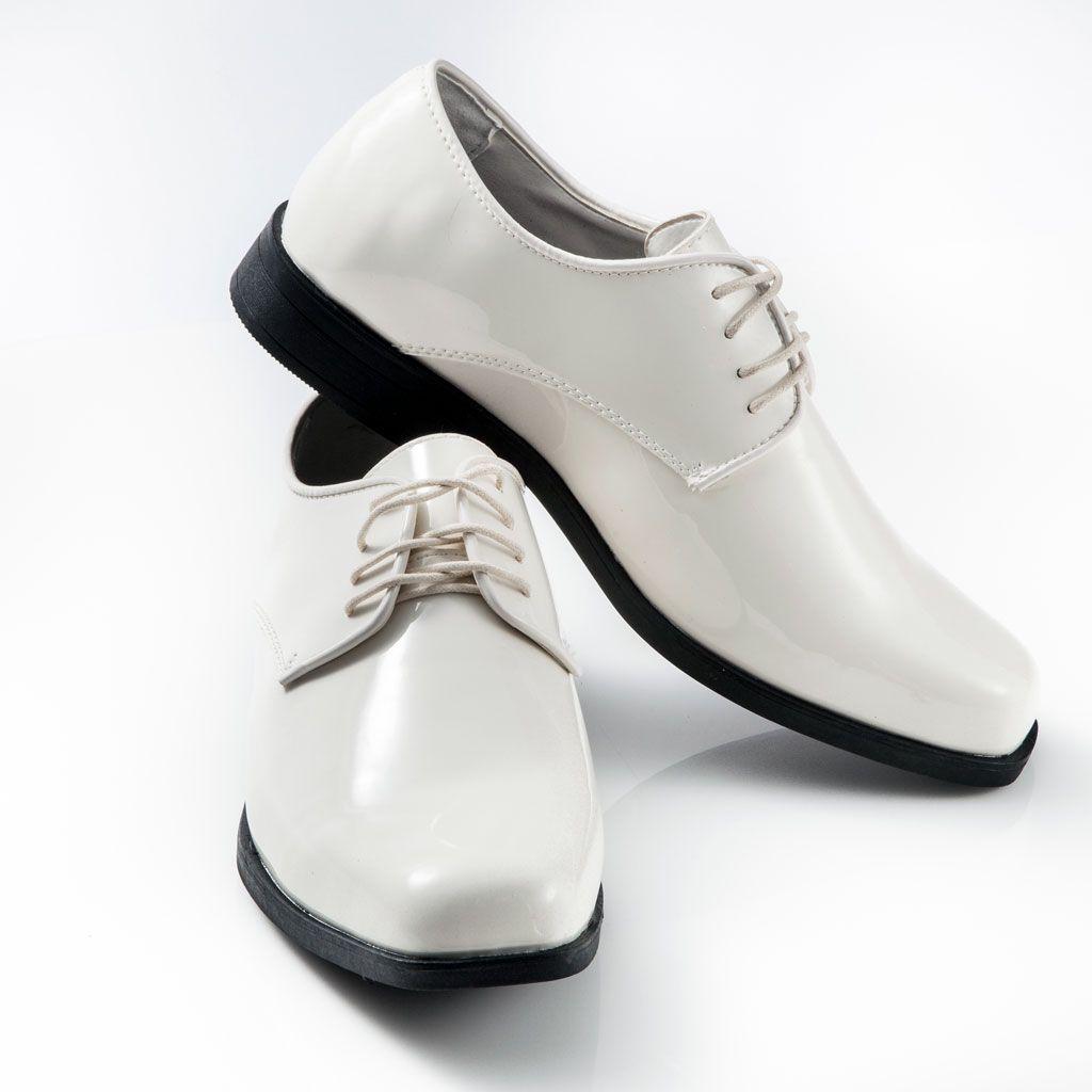 Men S Classic Ivory Patent Leather Tuxedo Shoe Square Toe Tuxedo Shoes Ivory Shoes Dress Shoes Men [ 1024 x 1024 Pixel ]