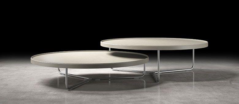 Adelphi nesting coffee tables in leather ffe pinterest modern adelphi nesting coffee tables in leather watchthetrailerfo