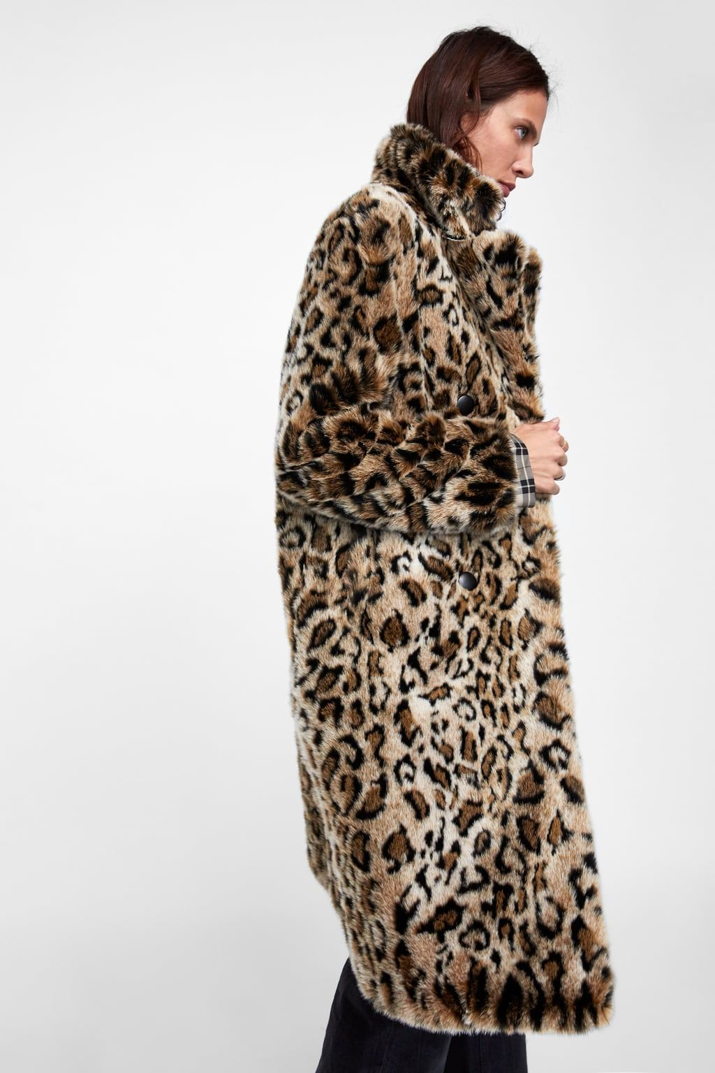 1169160f568 Image 6 of TEXTURED LEOPARD PRINT COAT from Zara