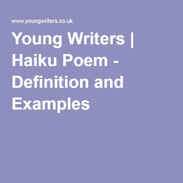 Young Writers | Haiku Poem - Definition and Examples | Art