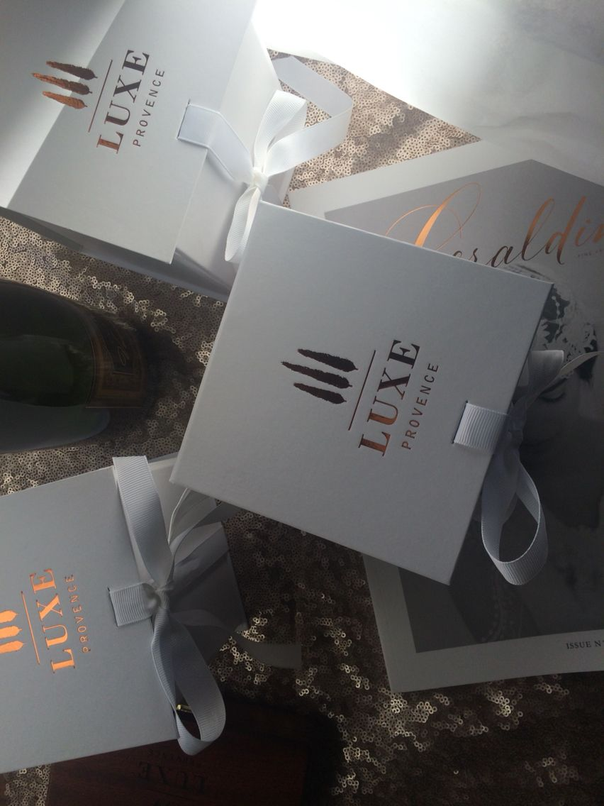 luxe provence gift box for a glam event