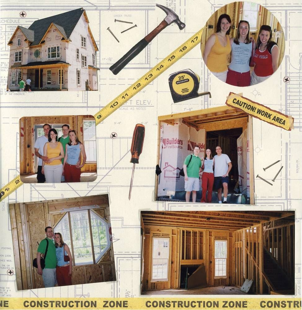 B j house construction scrapbook pages - New home construction ideas ...