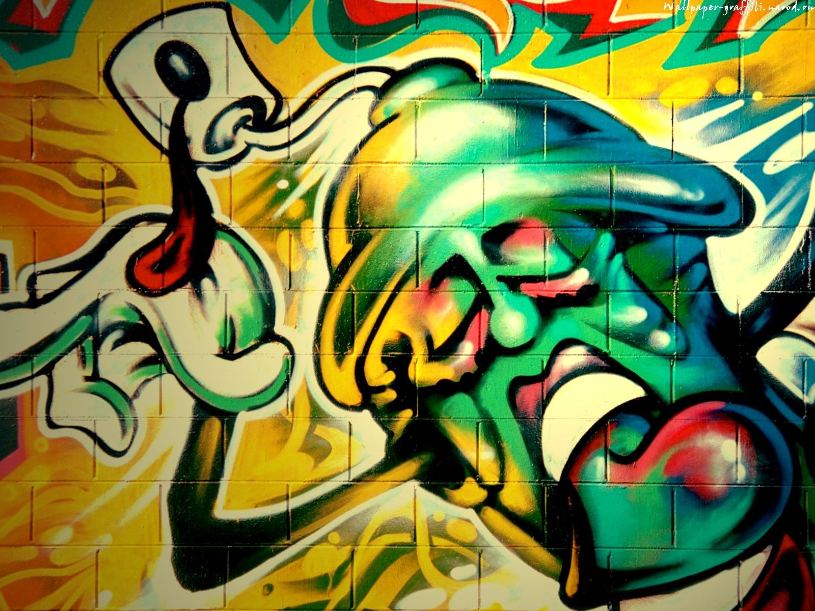 Download Free Graffiti Wallpaper Images For Laptop Desktops HD - Amazing graffiti alters perspective space