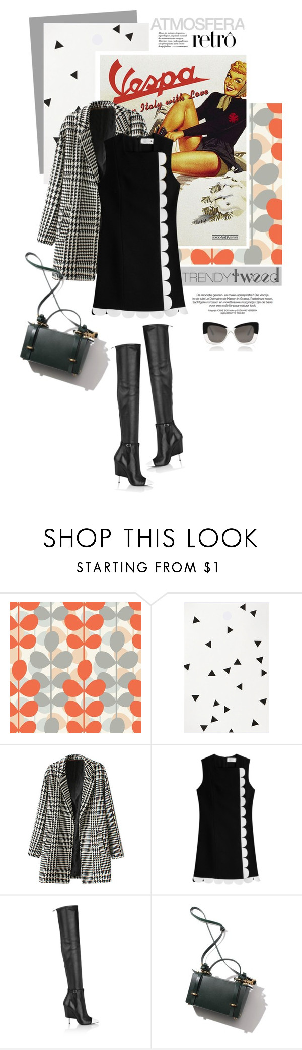 """""""Trendy Tweed"""" by pippi-loves-music ❤ liked on Polyvore featuring Retrò, ferm LIVING, Victoria, Victoria Beckham, Givenchy, Cutler and Gross, women's clothing, women, female, woman and misses"""