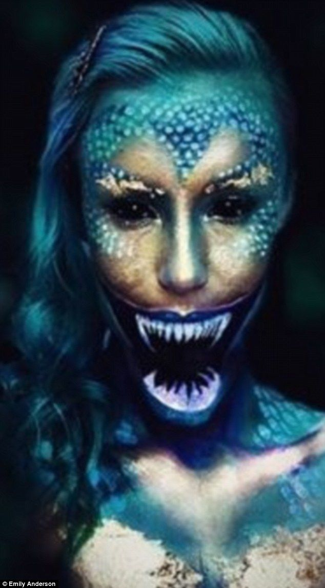 Mythical Creatures Halloween Costumes.Hollywood Make Up Artist Paint Terrifying Creatures On Her