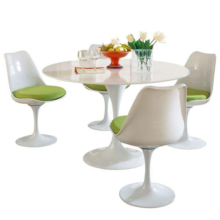 Modway Furniture Modern Lippa 5 Piece Fiberglass Dining Set images