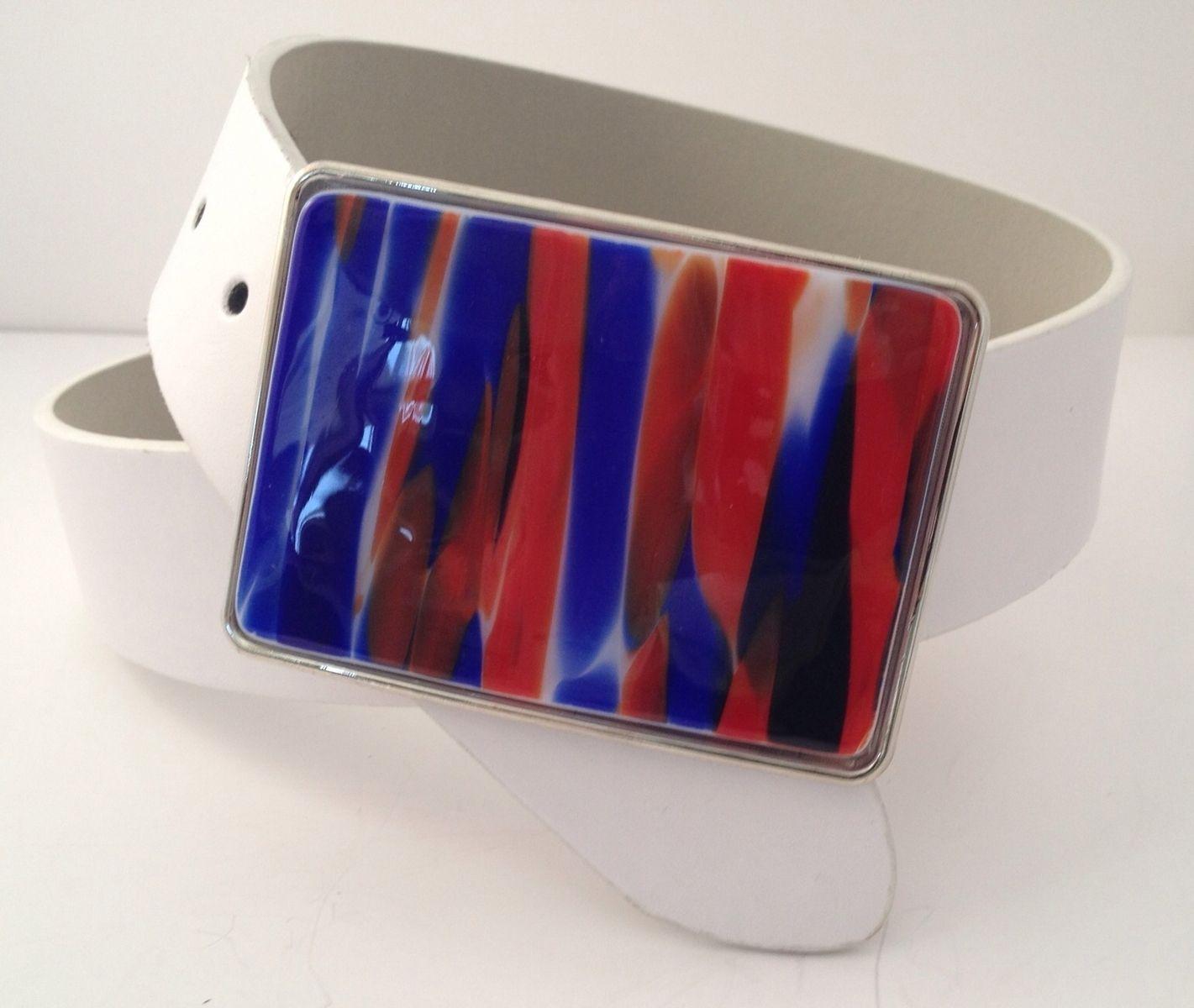 Fused Glass Belt Buckle