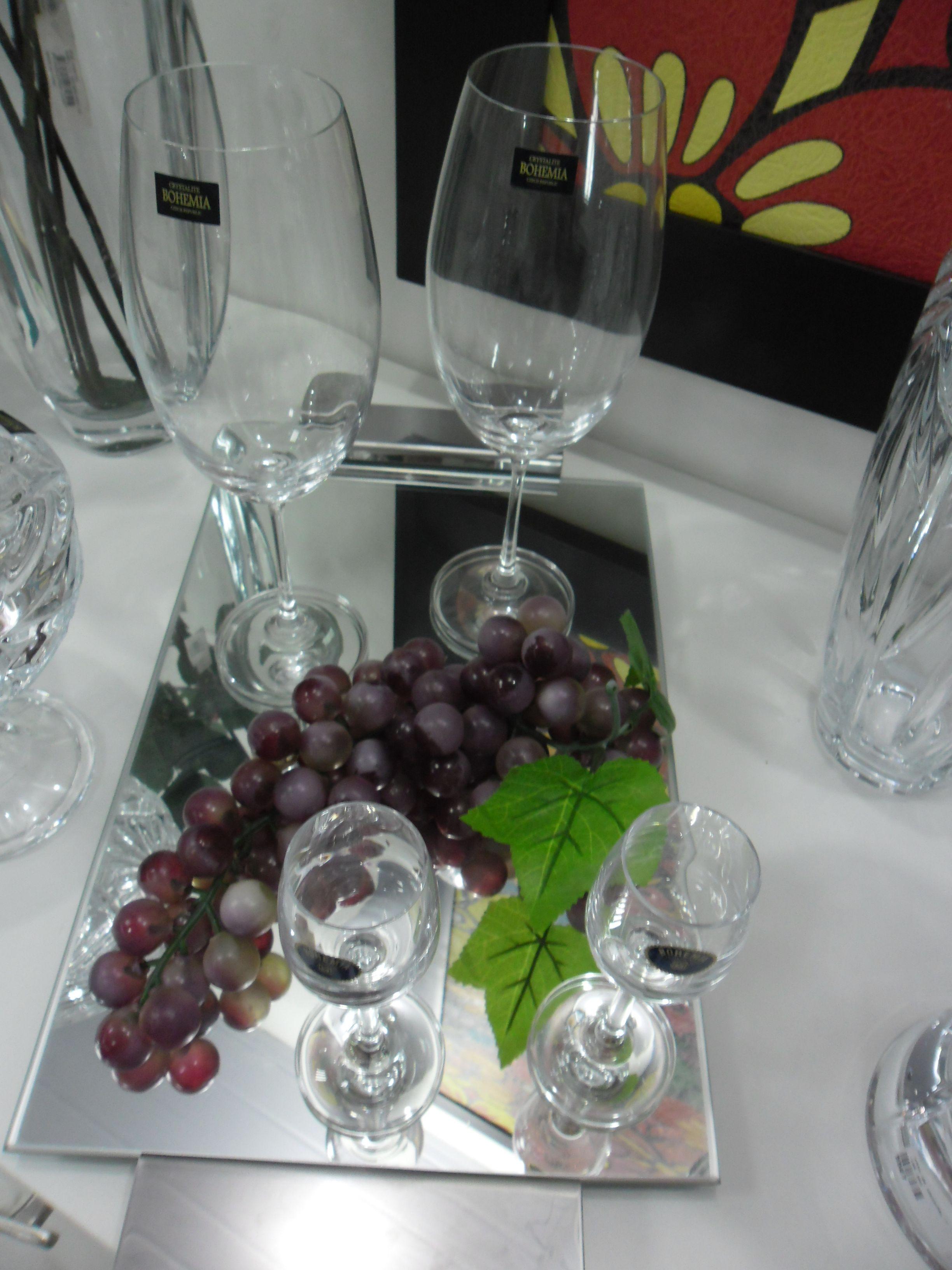 Ta as de cristal bandeja de vidro cacho de uva - Bandejas de cristal ...