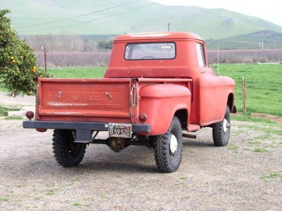old 4x4 pickup trucks 1957 gmc napco 4x4 pickup truck black plate california driver for sale. Black Bedroom Furniture Sets. Home Design Ideas