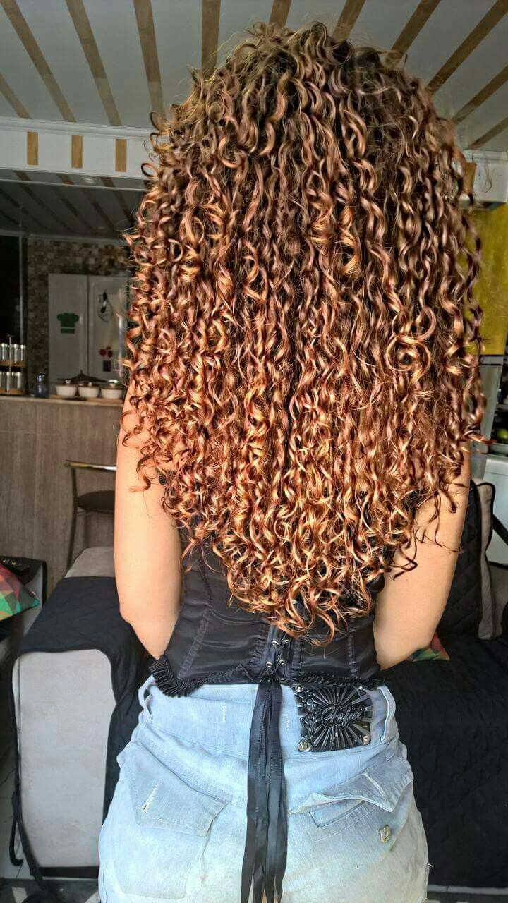 Cachos acobreados | Natural Hair em 2019 | Curly hair ...