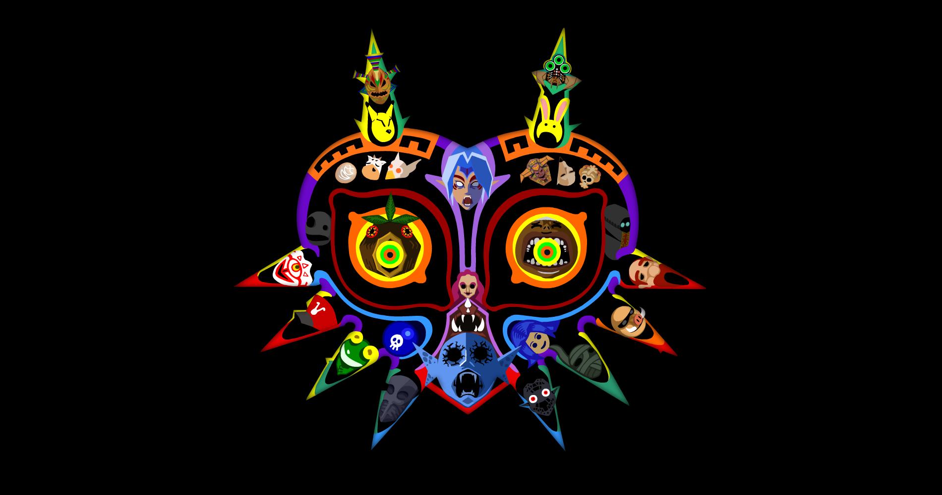 Majora S Mask Wallpaper Featuring All The Masks Legendofzelda