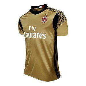 73624a6cc8f AC Milan 16-17 Season Goalkeeper Golden Soccer Jersey  J155