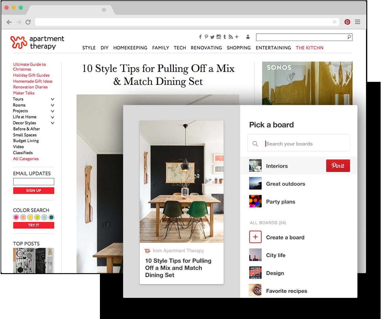 Bot O Do Pinterest Para Navegador Chrome Salve Ideias Criativas De  # Muebles Dangond