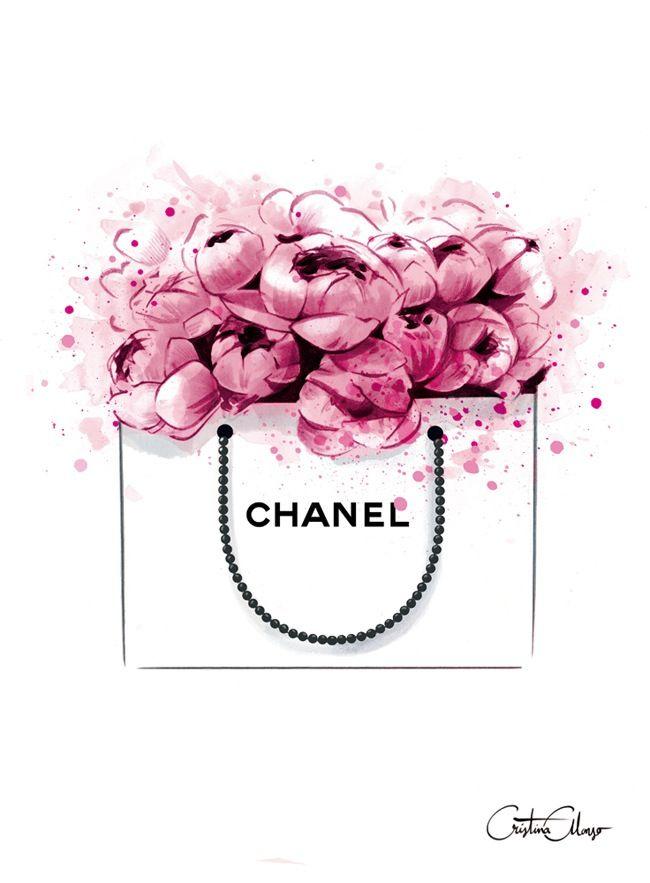 Image Of Peonies + Chanel Print