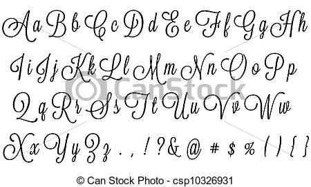 alfabeto corsivo Cerca con Google Handwriting Fonts