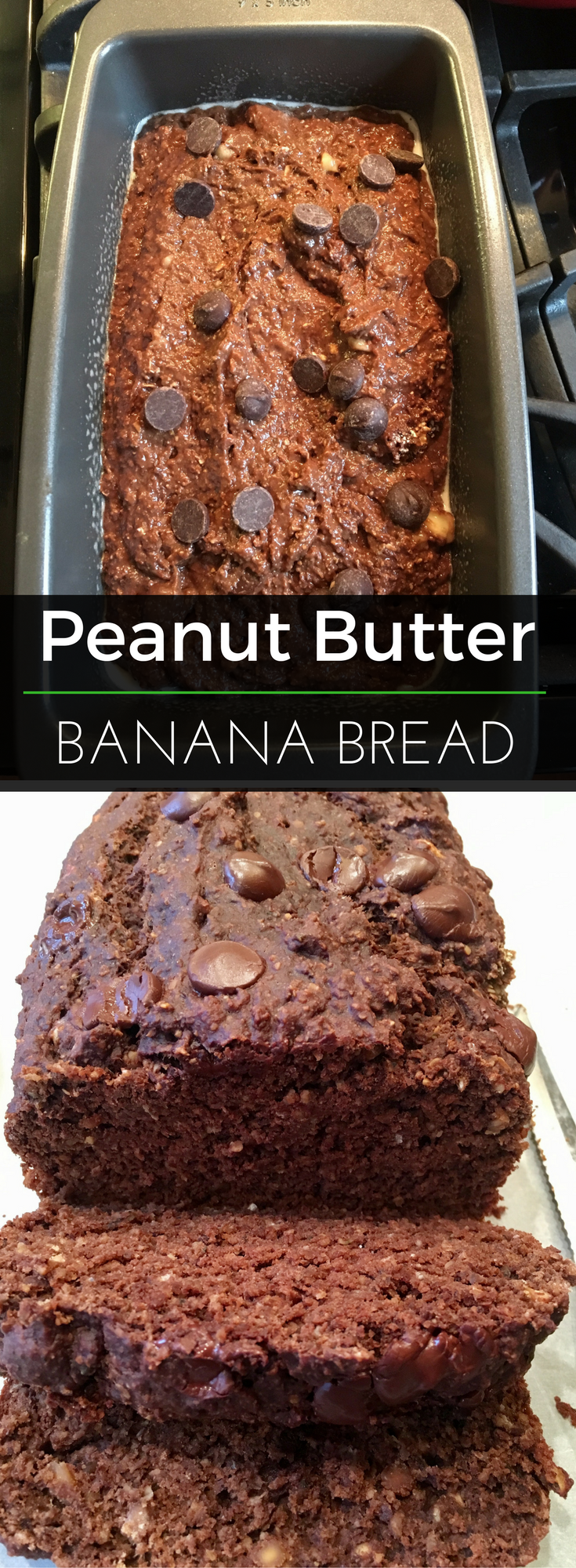 Peanut butter & banana is an awesome power snack - then bake into a sweet bread AND add chocolate! Doesn't get much better than this recipe. | Clearly Organic Nutritionist Corner #organic #nutritionist
