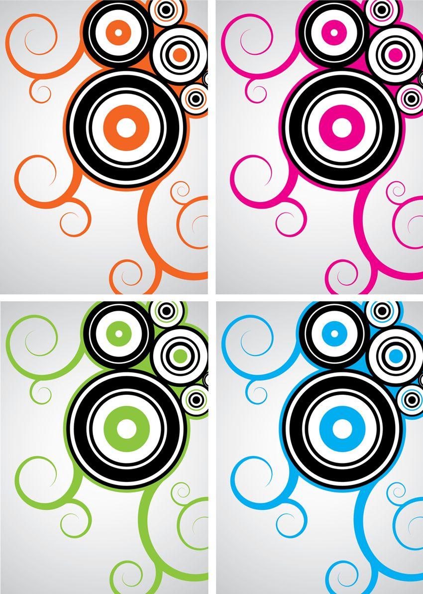 cool circle designs cool vector design swirls. Black Bedroom Furniture Sets. Home Design Ideas