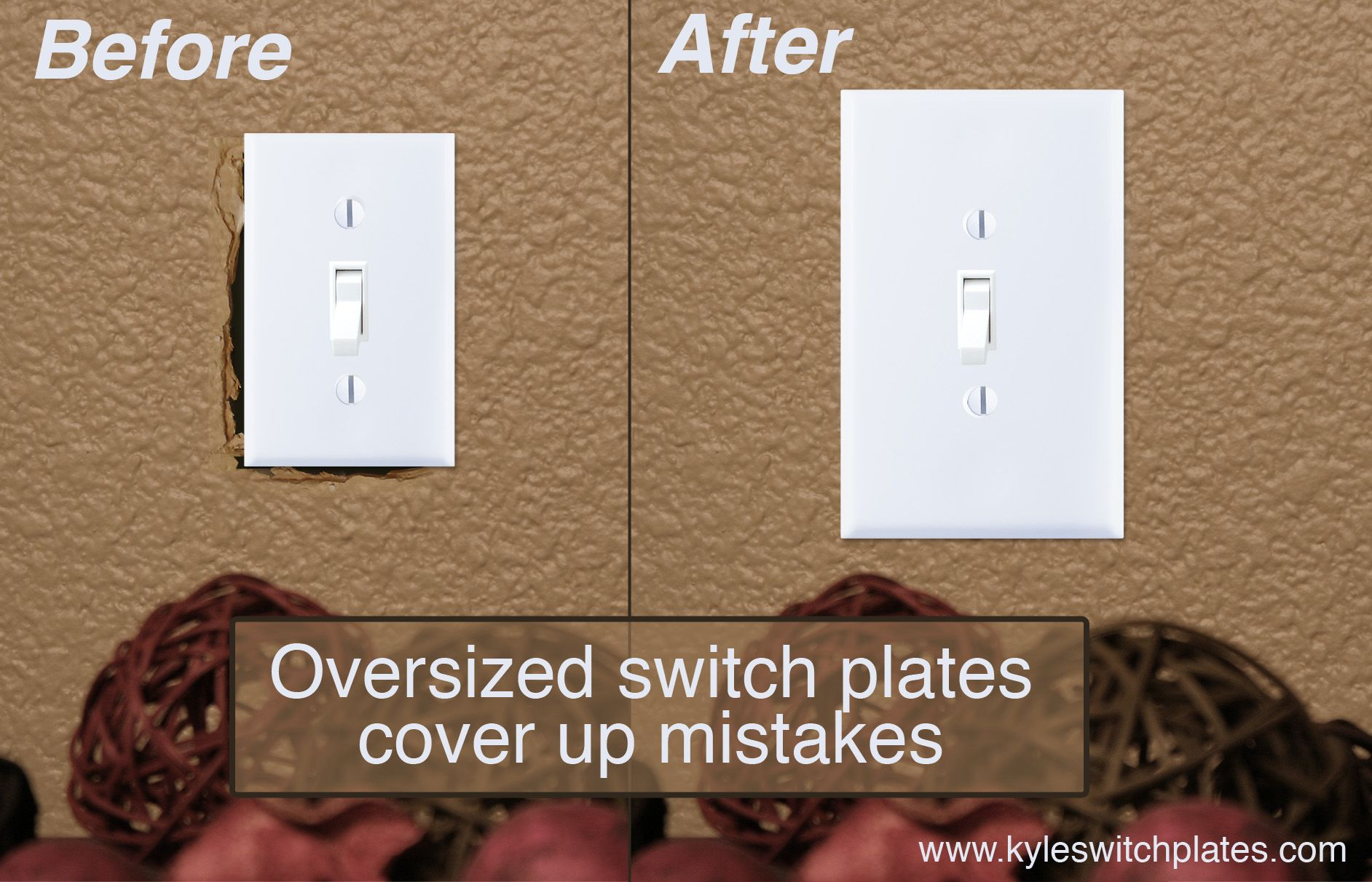Fix Mistakes With Large Oversized Light Switch Covers From