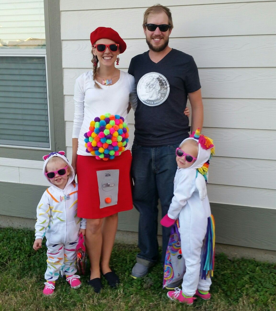 Family halloween costume. Lisa Frank pregnant mama gumball machine ...