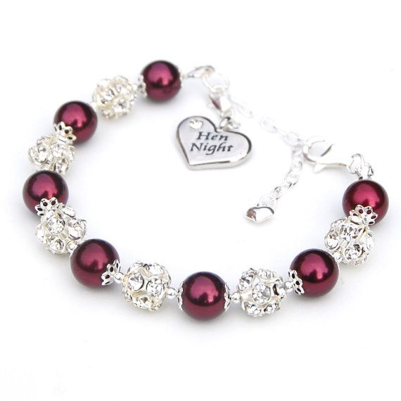 Bachelorette Jewelry Hen Party Charm Bracelet Bride by AMIdesigns, $29.00