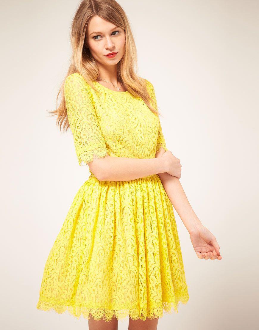 Darling Lace Yellow Amelia Dress