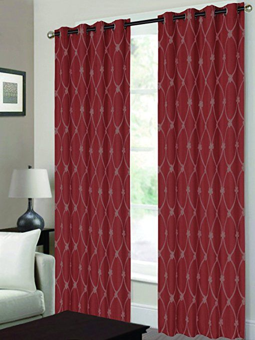 Rt Designers Collection Newbury Embroidered Grommet Window Curtain