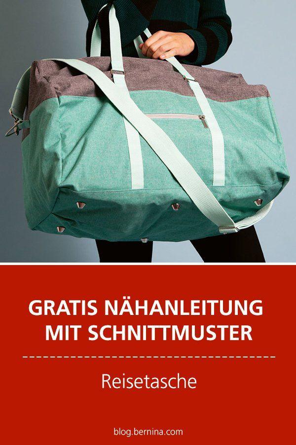 Patron gratuit avec patron Freebie: sac de voyage cousu    – Deutsche Nähanleitungen | german sewing tutorials