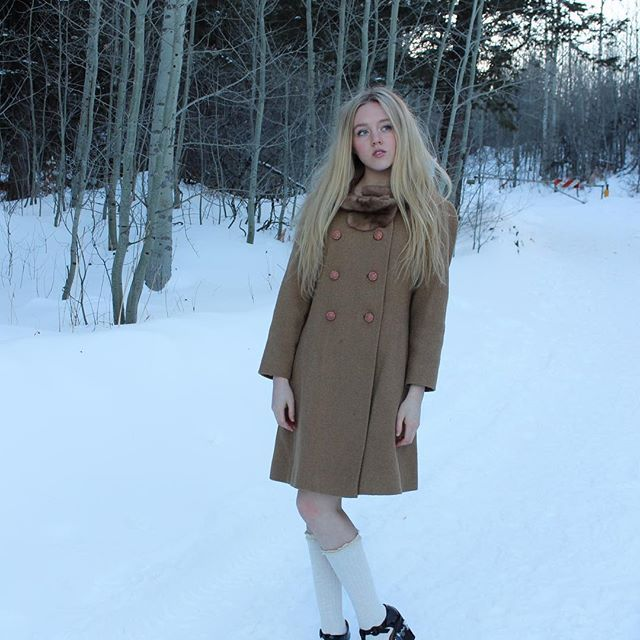 Vintage Faux Fur Camel Mod Coat | Youthcraft | 1960s | Shop on Inselly | $40