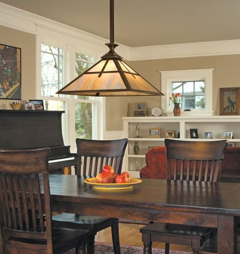 The Pasadena Arts Crafts Fixture Works Well In Dining Rooms Dining Room Lighting Craftsman Decor Craftsman Style Decor