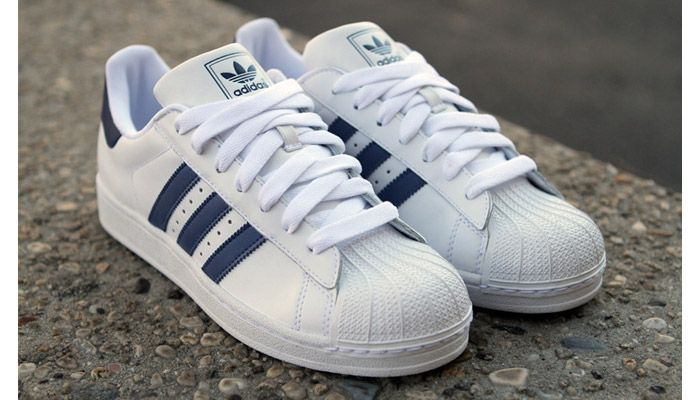 adidas superstar 2 navy white