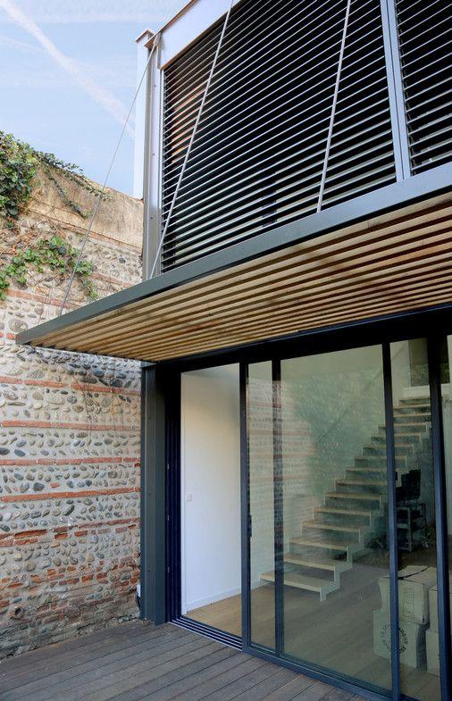 r novation et extension d une maison individuelle pergolas architecture and extensions. Black Bedroom Furniture Sets. Home Design Ideas