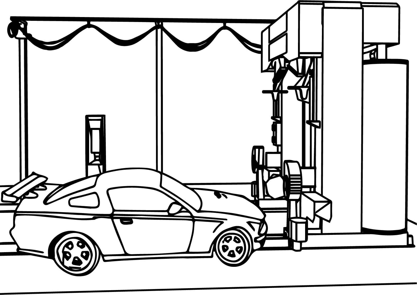 Awesome Car Wash Coloring Page With Images Car Wash Color