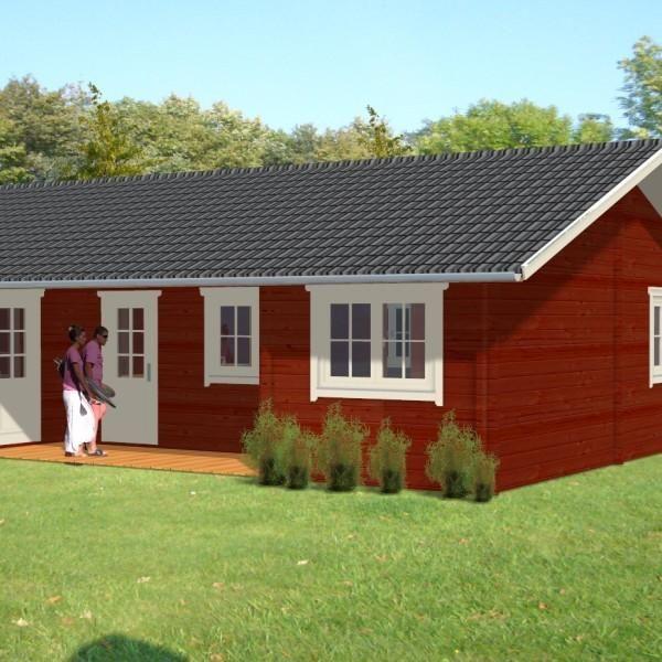 Ferienhaus Maarit im Blockhaus Stil Dr. Jeschke Holzbau