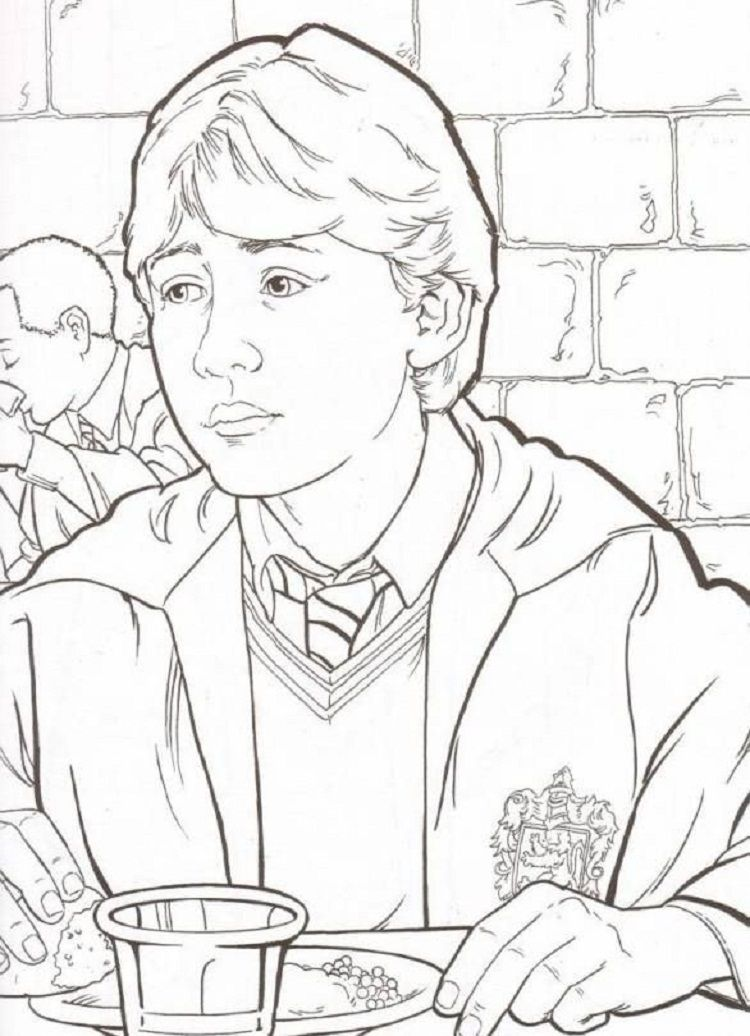 Harry Potter Coloring Pages Ron Wasley Harry Potter Colors Harry Potter Coloring Pages Coloring Pages