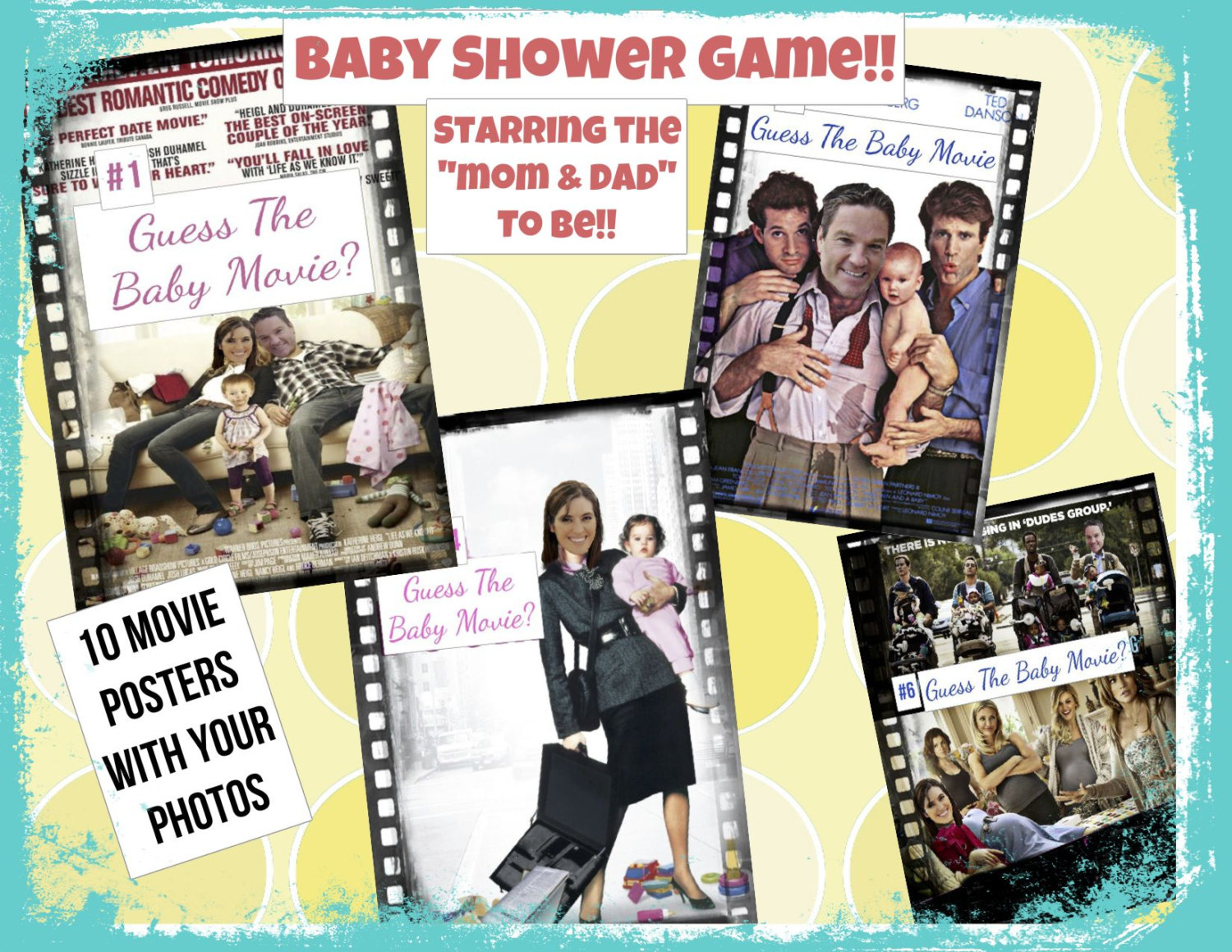 Personalised Baby Shower Game Who/'s the celebrity daddy