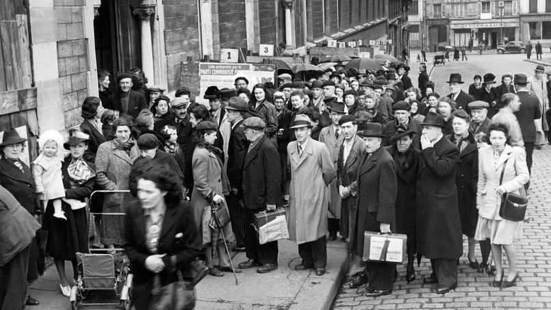 29 avril 1945 les femmes franaises votent pour la premire fois