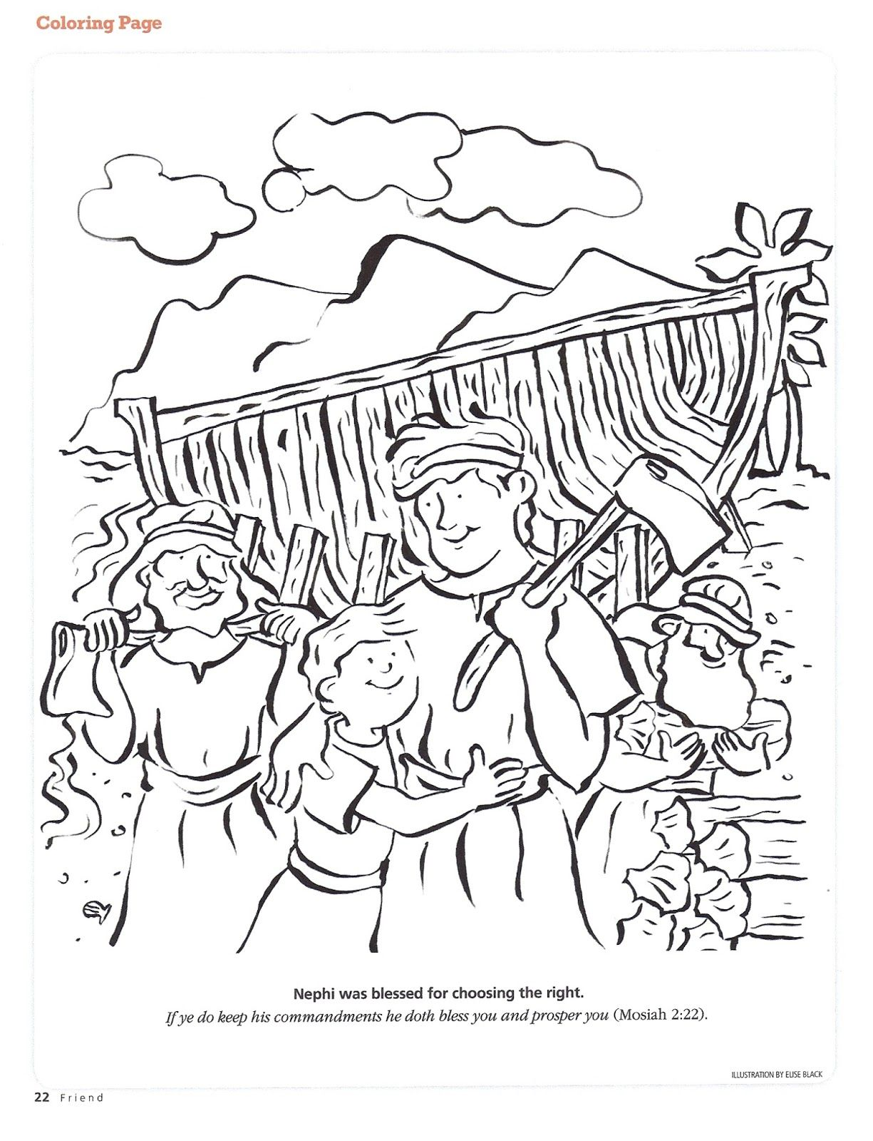 Primary 4 Manual Lesson 6 Heavenly Father Commands Nephi