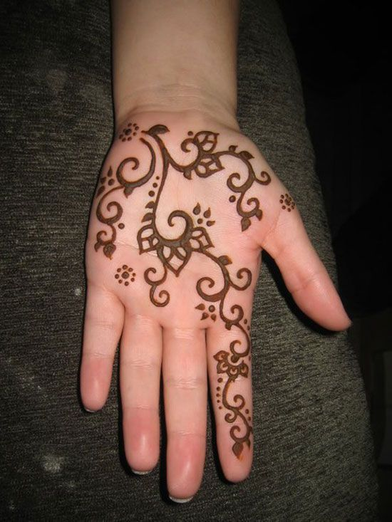 Mehndi Designs For Palms Easy : Henna designs for hands arabic kids easy step by