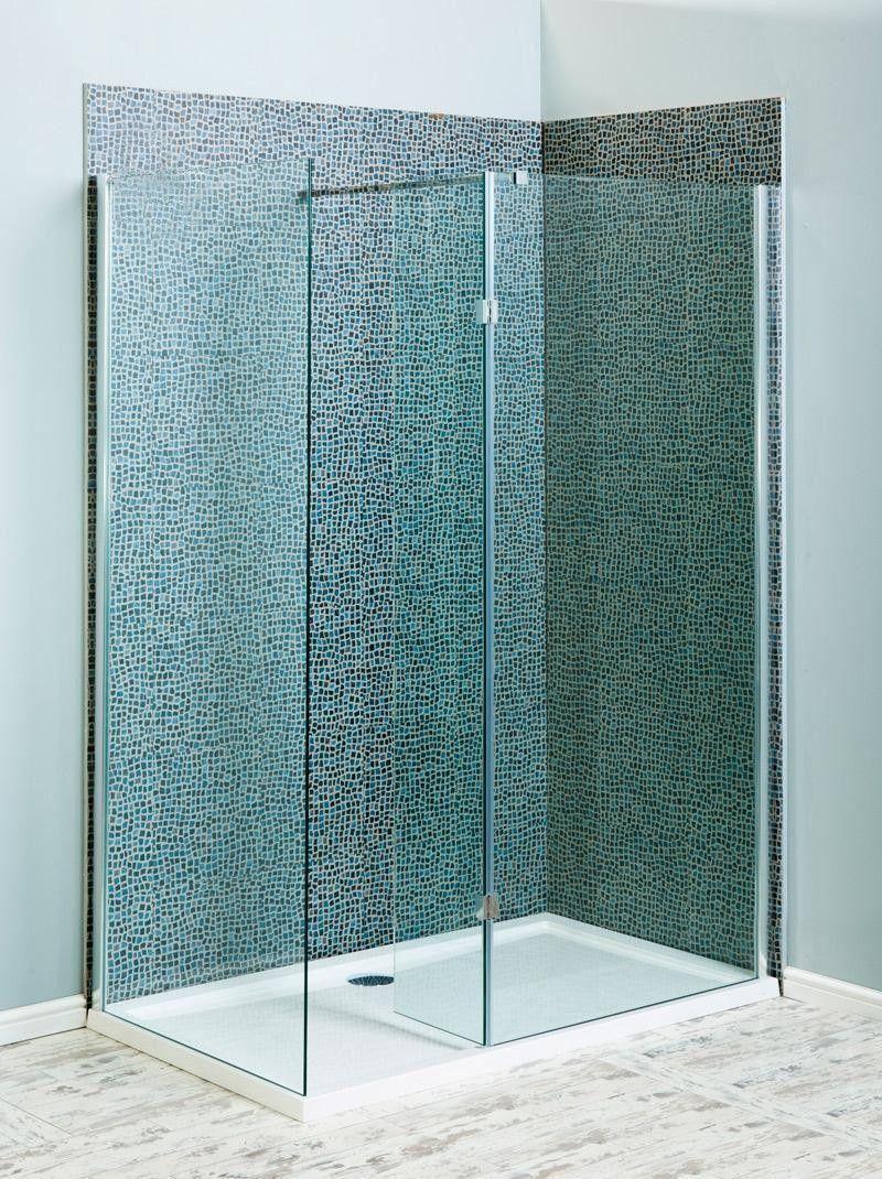 Milano Beka Recess Wall Walk In Shower Enclosure (Various Sizes ...