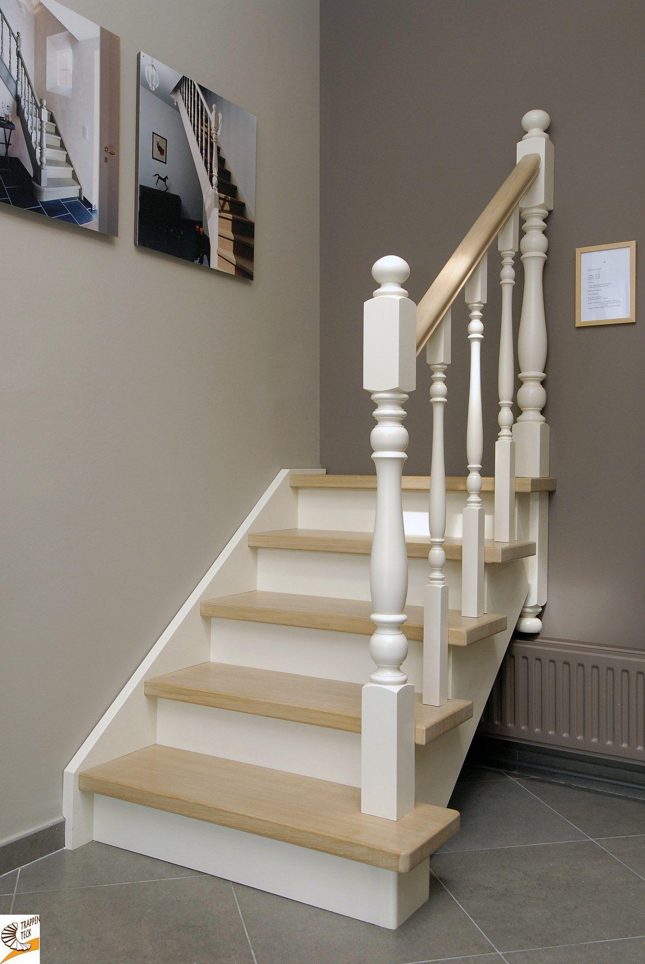 Landelijke houten trap van trappen teck in puurs www for Moderne houten trap