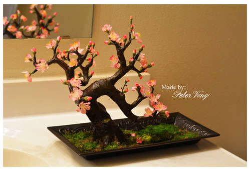 Artificial Bonsai Cherry Blossom Trees Miscellaneous Topics Cherry Blossom Tree Bonsai Diy Blossom Trees