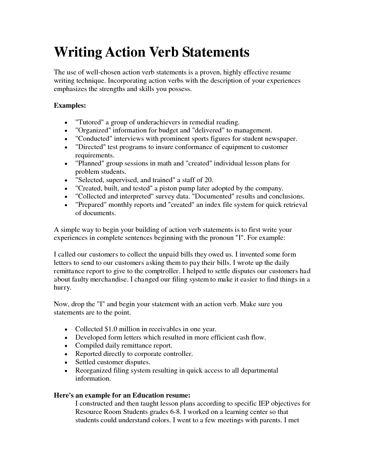 substitute teacher resume job